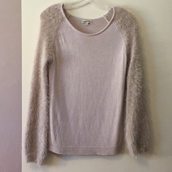 Altar'd State Sweaters - Altar'd State tan sweater w/ furry sleeves. Medium